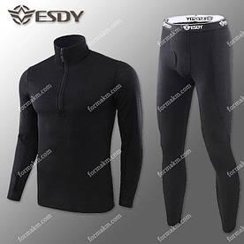 Термобелье Мужское Флисовое ESDY Pro Black ( комплект термобелья )