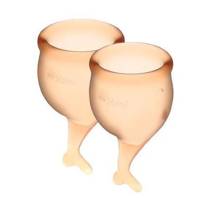 Набор менструальных чаш Satisfyer Feel Secure, 15 мл и 20 мл Оранжевый, фото 2