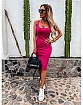Облегающее платье - майка до колен в расцветках 73031439, фото 5