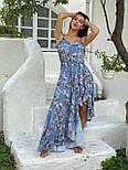 Принтованный летний сарафан с резинкой на талии и асимметричной юбкой 58031442, фото 7