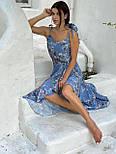 Принтованный летний сарафан с резинкой на талии и асимметричной юбкой 58031442, фото 9