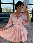 Шелковое платье с расклешенной юбкой и верхом на запах 66031447Q, фото 2