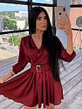 Шелковое платье с расклешенной юбкой и верхом на запах 66031447Q, фото 3