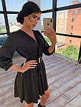 Шелковое платье с расклешенной юбкой и верхом на запах 66031447Q, фото 4