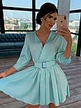 Шелковое платье с расклешенной юбкой и верхом на запах 66031447Q, фото 5