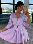 Шелковое платье с расклешенной юбкой и верхом на запах 66031447Q, фото 6