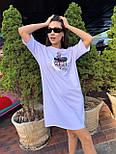 Спортивное платье свободного кроя с коротким рукавом и рисунком 63031451, фото 3