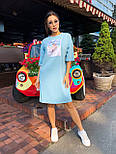Спортивное платье свободного кроя с коротким рукавом и рисунком 63031451, фото 7