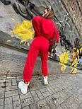 Женский спортивный костюм с укороченной кофтой и штанами на манжетах 18051012, фото 5