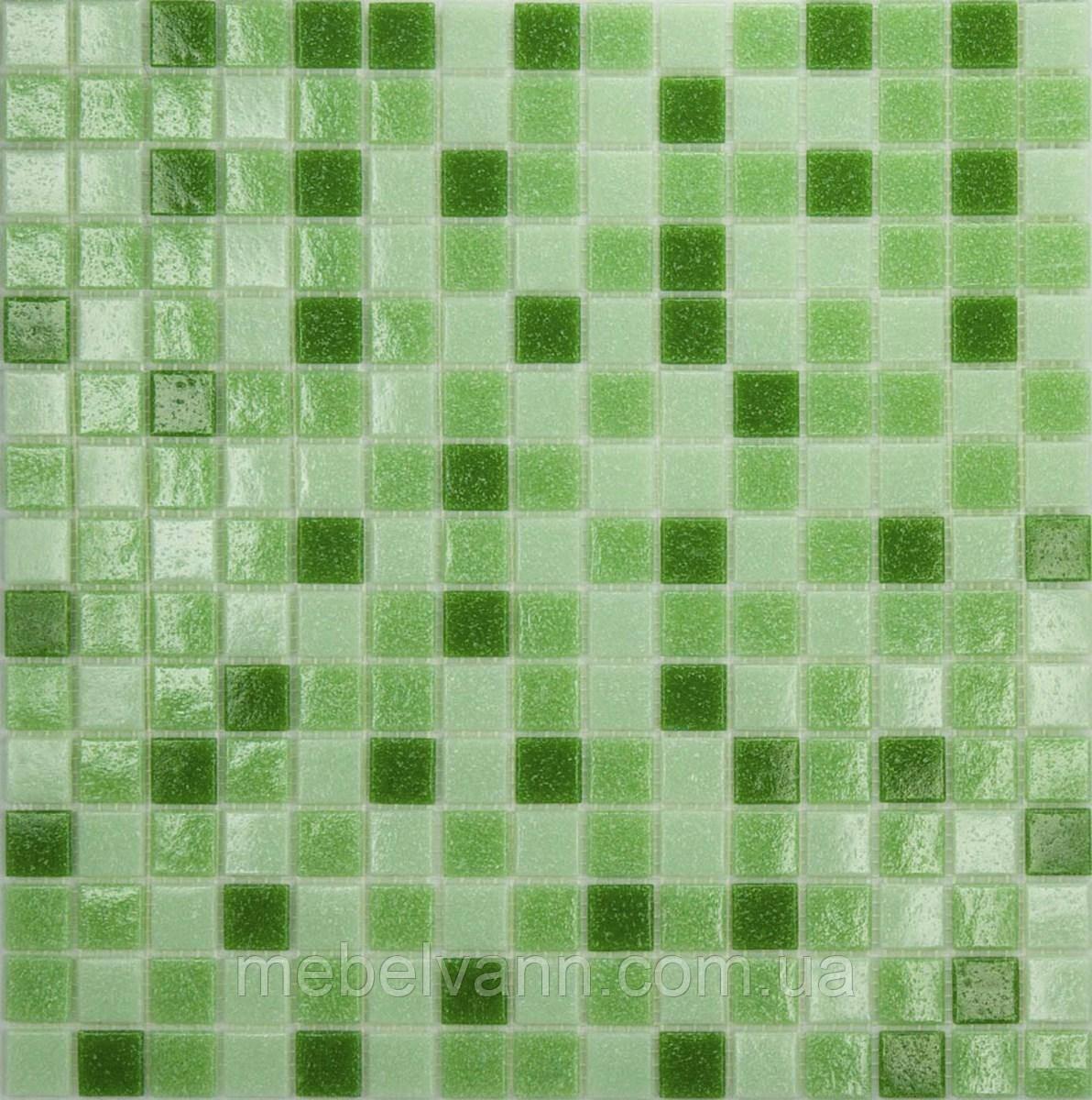 Мозаїка зелений мікс скло на папері 431