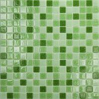 Мозаика зеленый микс стекло на бумаге 431