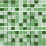 Мозаїка зелений мікс скло на папері 431, фото 2