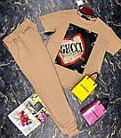 Брючный женский костюм двойка с зауженными штанами на манжетах и футболкой 27101009, фото 7