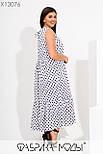 Летнее длинное платье в больших размерах с расклешенной юбкой - трапецией 115728, фото 6