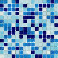 Мозаика голубой микс стекло на бумаге В11-397087