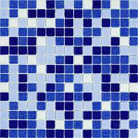 Мозаика синий микс стекло на сетке В11-397055