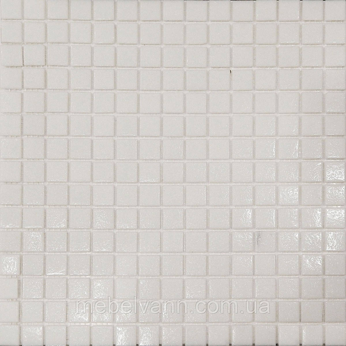 Мозаїка біла скло на сітці А11-326023