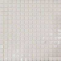 Мозаика белая стекло на сетке А11-326023