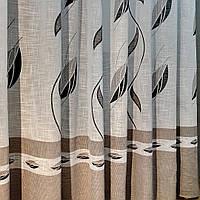 Тюль лен фактурный плотный Raisa