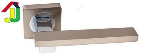 Ручка раздельная Kedr R 08.150 хром/никель мат квадратное основание, ручка на розетке для межкомнатной двери