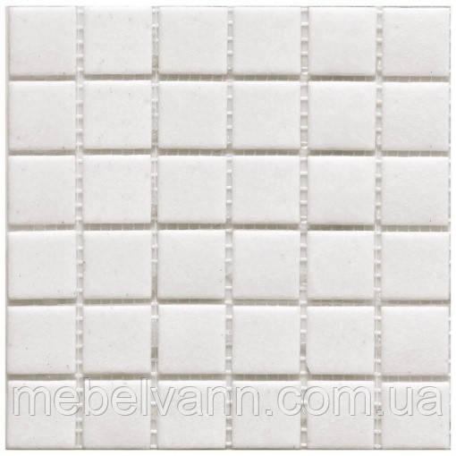 Мозаїка біла скло на папері 20L01