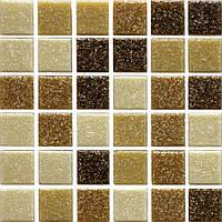 Мозаика коричневая стекло на сетке А56-257597