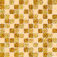 Мозаика стекло на сетке GOLDEN-68685