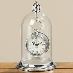 Часы настольные Белина серебряные h 26 см