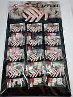 Нігті накладні K·Nail Art Nail Natural shapes for easy wear & comfort 12 шт і New Design KP71012