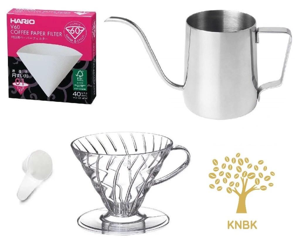 Подарочный набор Hario V60 01 Optimal для альтернативного заваривания кофе в воронке