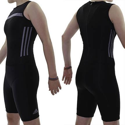 Женское трико для тяжелой атлетики Adidas Crazypower suit (черный, CW5660), фото 2