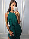 Прямое длинное платье под пояс без рукава с разрезом на ноге 83py1436, фото 3