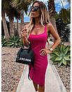 Облегающее платье - майка до колен в расцветках 73py1439, фото 2