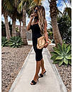 Облегающее платье - майка до колен в расцветках 73py1439, фото 3