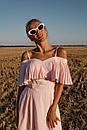 Летнее платье с расклешенной юбкой и воланом на груди 31py1457, фото 5