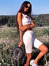 Летний спортивный костюм с велосипедками и топом без рукава 5so1014, фото 5