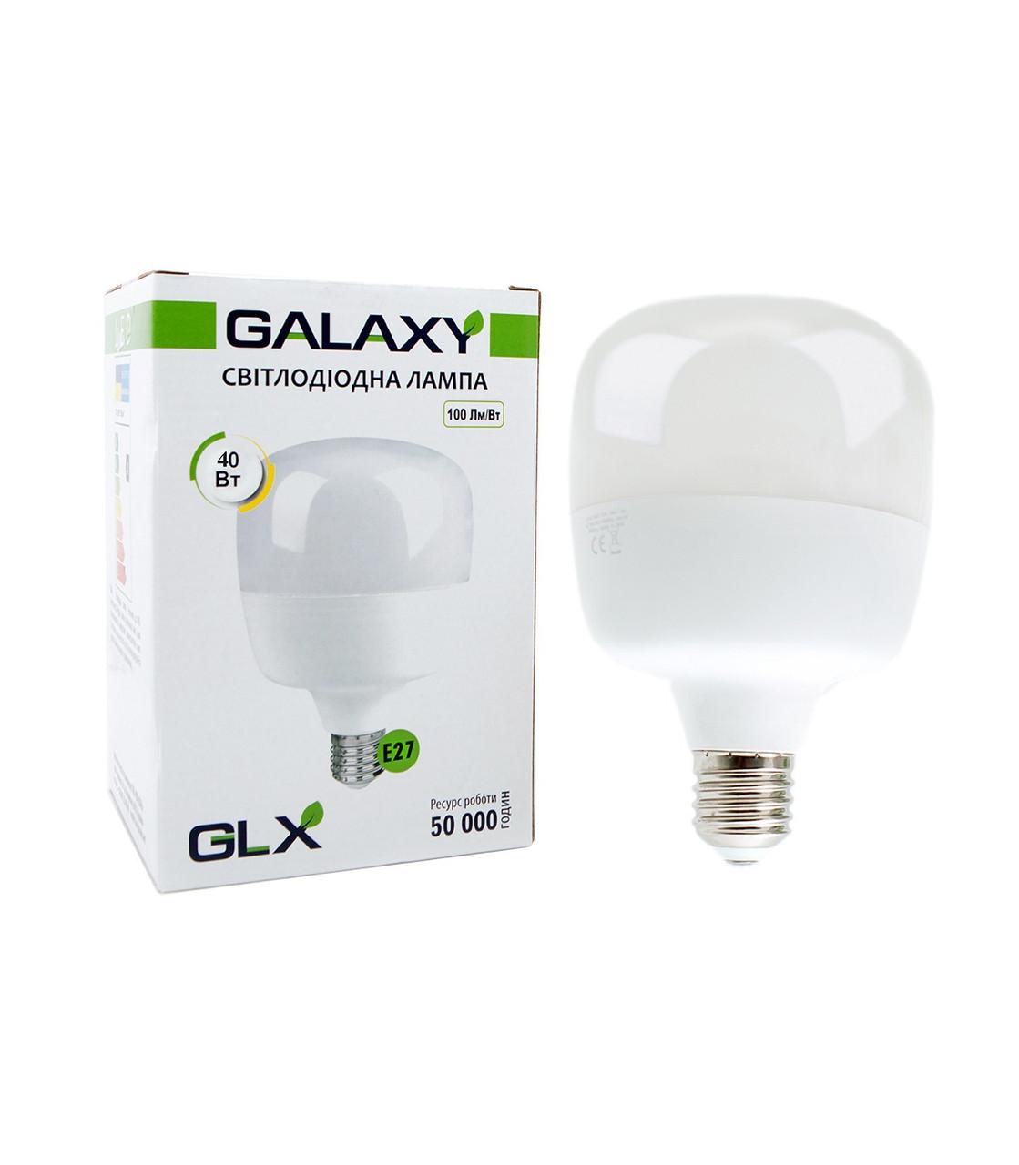 Лампа светодиодная Т100 40W Е27 5000K GLX