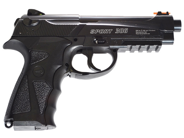 Внешний вид и устройство пневматического пистолета Borner Sport 306 (C-31)