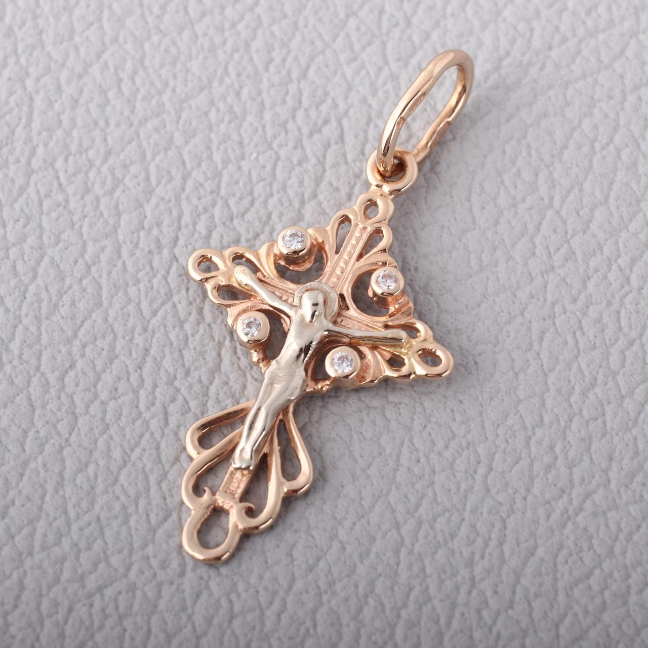 Золотой детский крестик ПП427а