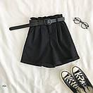 Женские летние шорты на высокой посадке с резинкой на талии и поясом 77sw20, фото 2