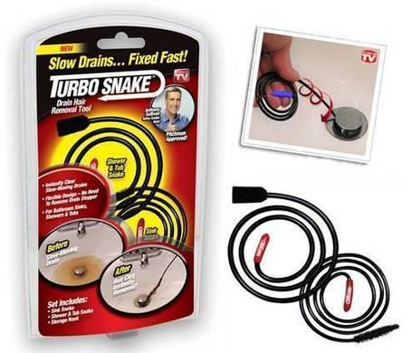 Устройство для чистки канализации Turbo Snake   Прибор для чистки труб   Трос для прочистки засоров, фото 2
