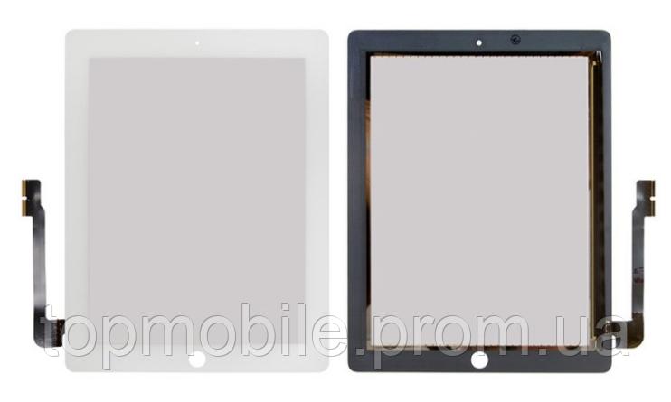 Тачскрин  iPad 3/iPad 4, белый, оригинал (Китай) (сенсор, touch)