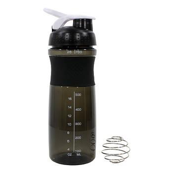 Спортивный шейкер Lesko HC803 Black бутылка для воды коктейлей спортивного питания 760ml мерная