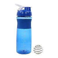 Спортивный шейкер Lesko HC803 Blue бутылка для воды коктейлей спортивного питания 760ml мерная