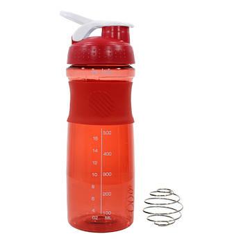 Спортивный шейкер Lesko HC803 Red бутылка для воды коктейлей спортивного питания 760ml мерная