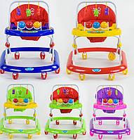 Детская каталка-ходунки, интерактивные, музыкальные, с игровой панелью, JOY, 992, 5 расцветок