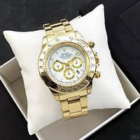 Rolex Daytona Quartz Date Gold-White