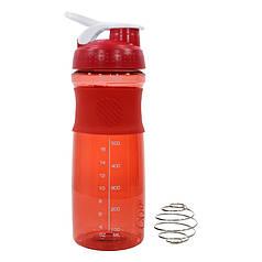 Бутылка-шейкер Lesko HC803 Red для воды и коктейлей 760ml мерная для спортсменов питания