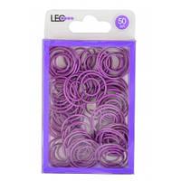 Скріпки круглі фігурні 50шт фіолетові L1920-12