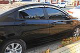 Дефлектори вікон хромовані (вітровики) Hyundai Accent 2010-2017 (Auto Clover A482), фото 10